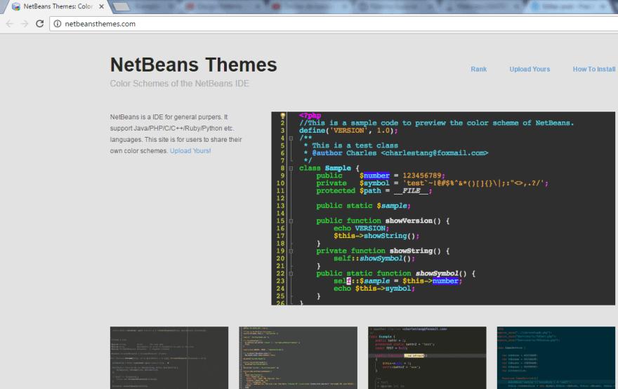 Site de tema para NetBeans