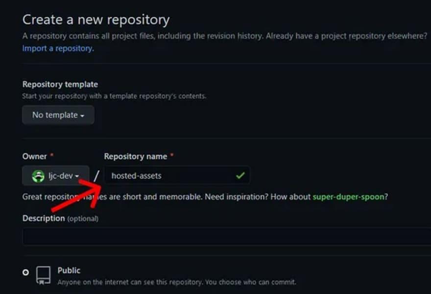 choosing a github repository name