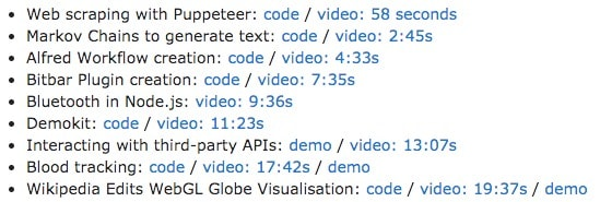 Video timestamps
