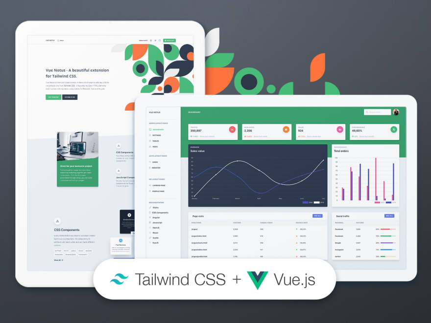 Tailwind CSS Vue - Free starter provided by Creative-Tim.