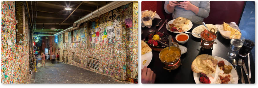 The gum wall and indian food