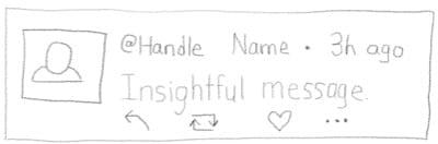 Sketch of a tweet