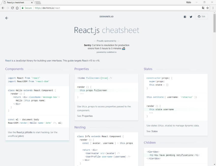 React js cheatsheet - DEV Community 👩 💻👨 💻