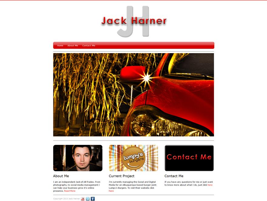 JackHarner.com in 2013