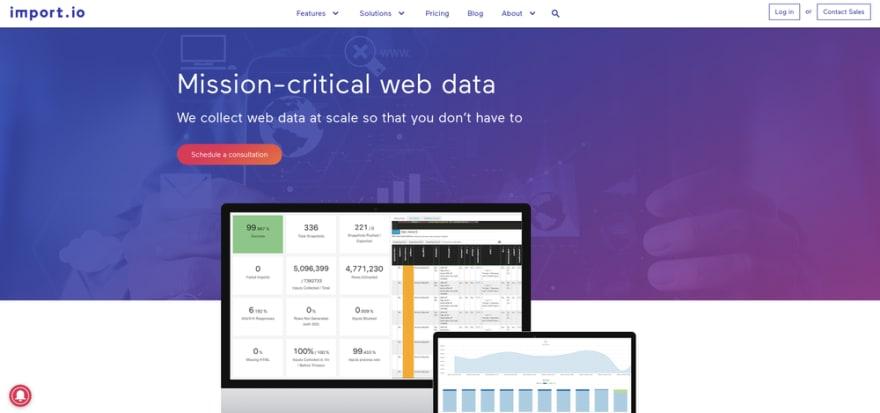 Web Data Integration - Import.io - Data Extraction, Web Data, Web Harvesting, Data Preparation, Data Integration