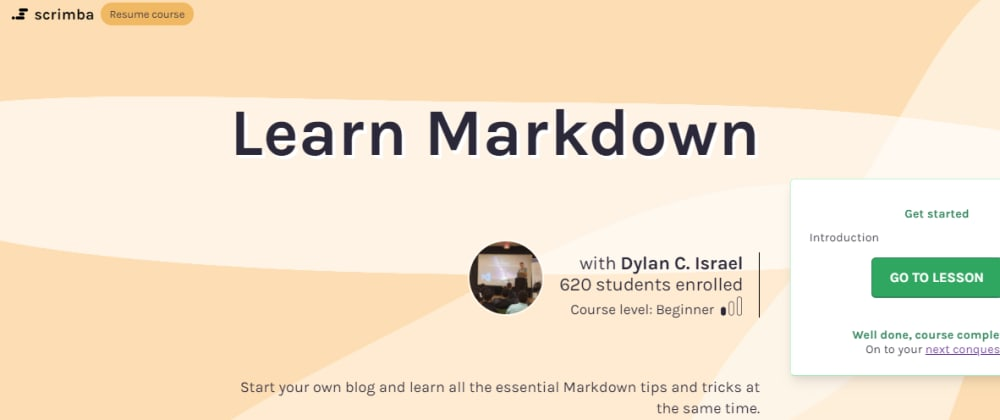Cover image for Learn Markdown, With Scrimba & Dylan Israel! 💻