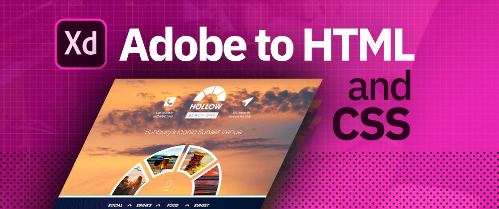Cover image for Convert Adobe XD to Responsive HTML and CSS website