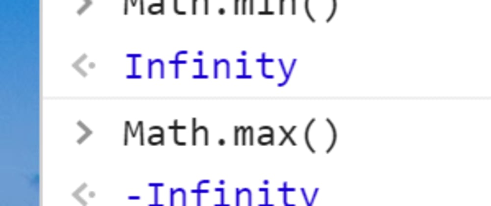 Cover image for Math.min returns Infinity?