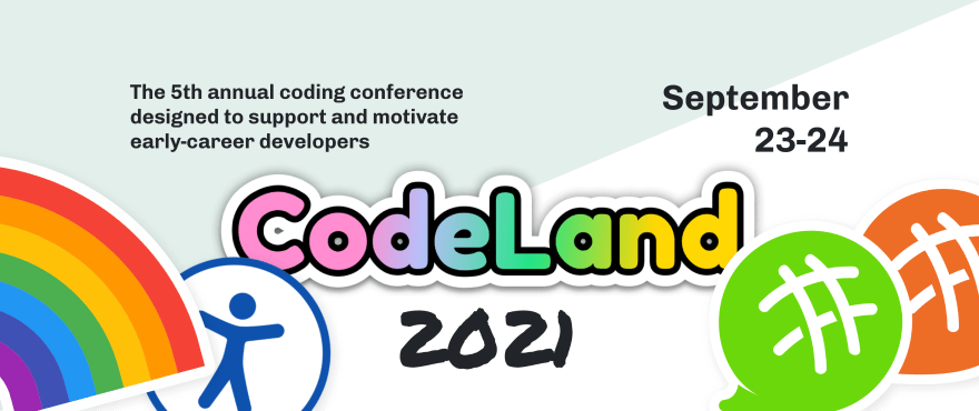 Graphic with logo of the CodeLand Conference
