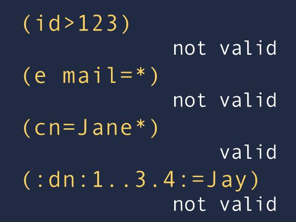 Problem 1. Recognize LDAP filters.