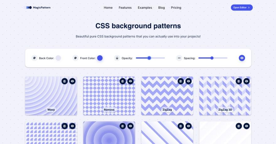 CSS Background Patterns