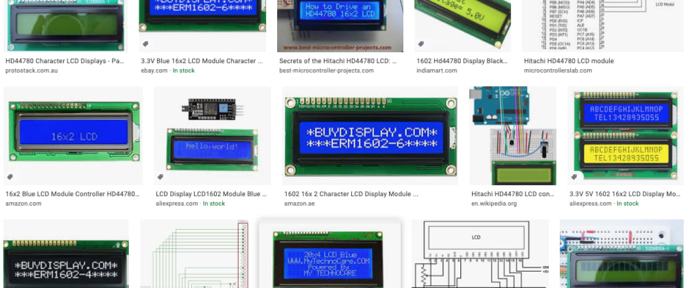 Cover image for HD44780 LCD, I/O expanders, I2C interface etc