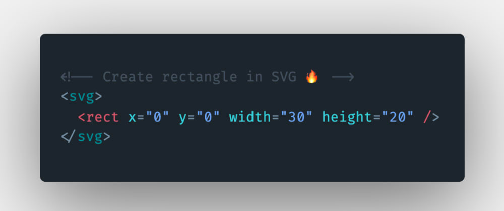 Cover image for How to create or draw a rectangle using SVG in HTML?