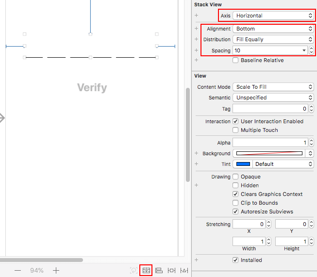XCode StackView