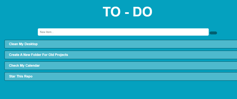 Cover image for Making a TO-DO list web app using simple JavaScript