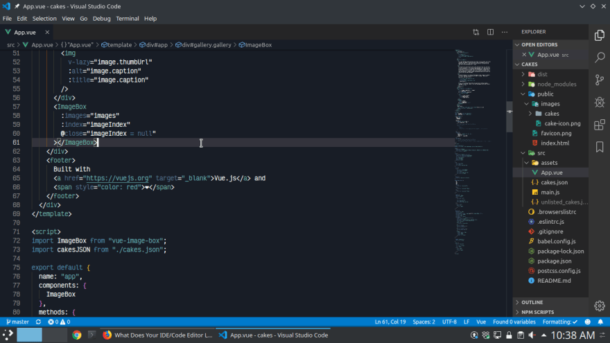 VSCode Editor Screenshot