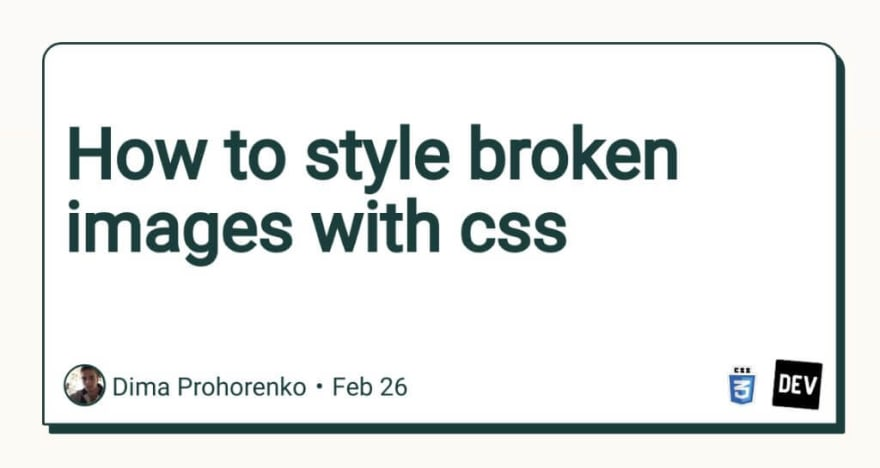 How to style broken images with CSS