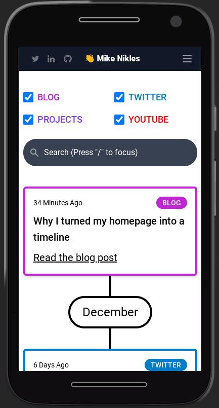 Mobile timeline