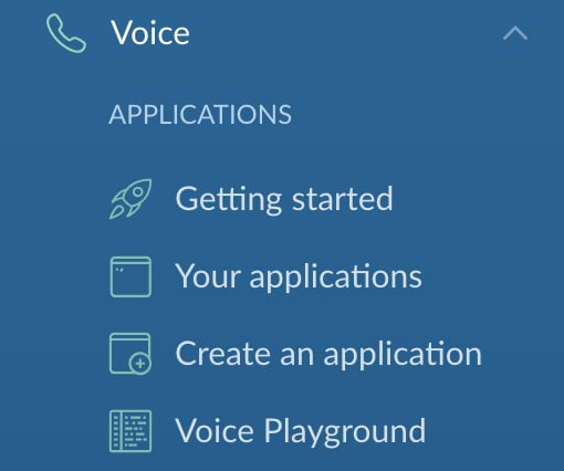 Voice Menu Options