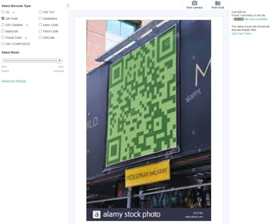 QR perspective coverage