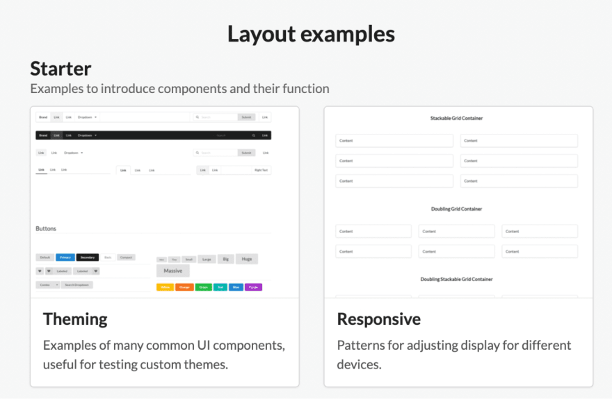 semantic layout examples