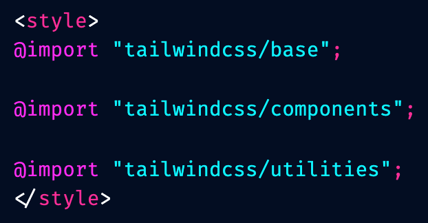 Tailwind directives screenshot