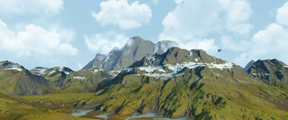 Cover image for Creating mountains landscape in OpenGL ES