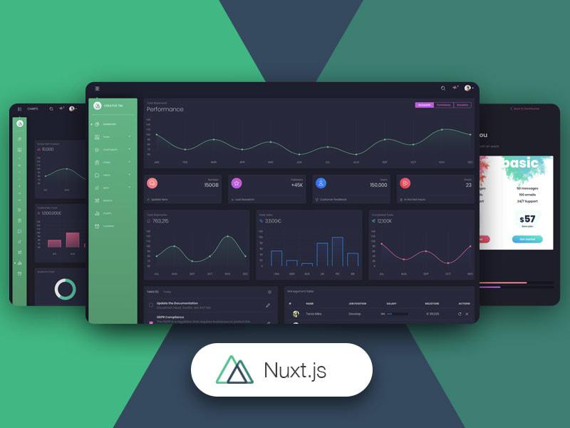 Nuxt Black Dashboard Pro – Creative Tim