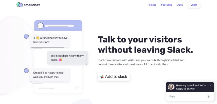 Chat Feature on Website