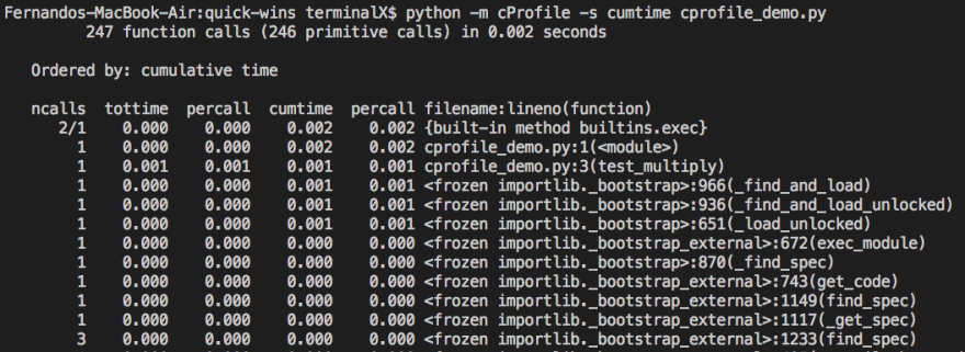 Profiling Python with cProfile - DEV Community 👩 💻👨 💻