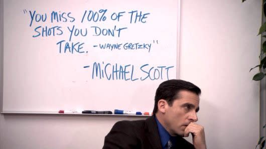 the office you miss 100% shots quote