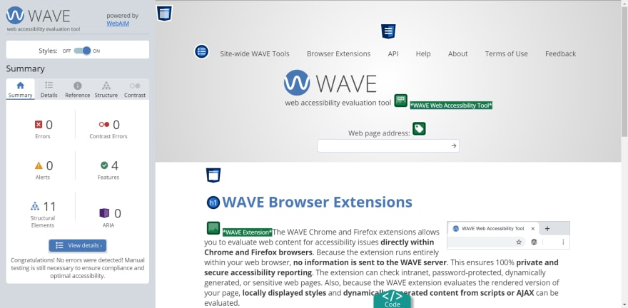 WAVE preview