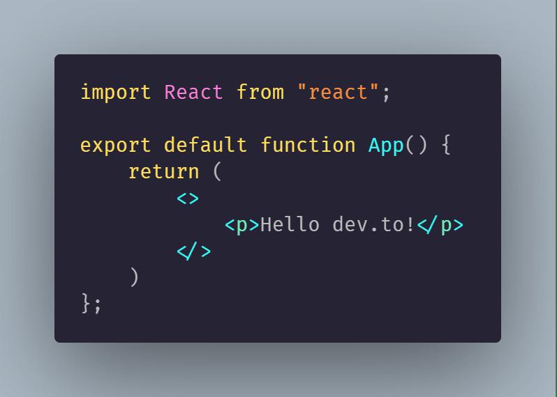 Initial App.js code