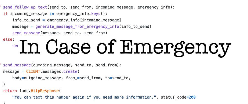 Cover image for Flexible and Extensible Emergency Contact Information with Twilio and Azure Functions