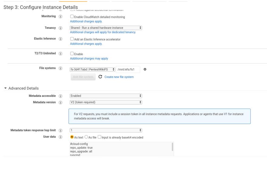 EC2 instance details