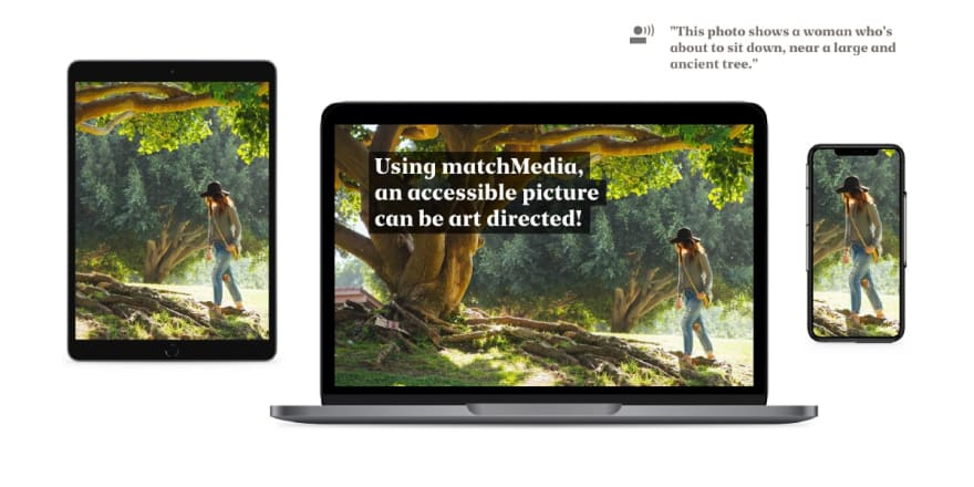 Our solution-Using matchMedia, we can have both accessibility and proper art direction. (Photo by Kevin Young)