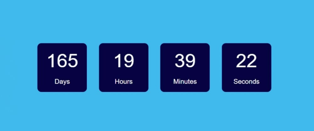 Cover image for Simple Countdown Timer using JavaScript