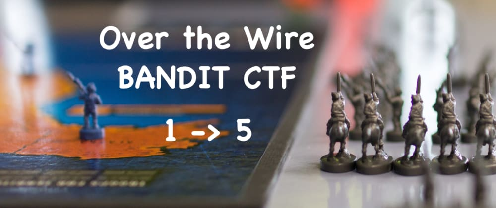 Cover image for Bandit CTF - 1 to 5 Challenges WriteUp