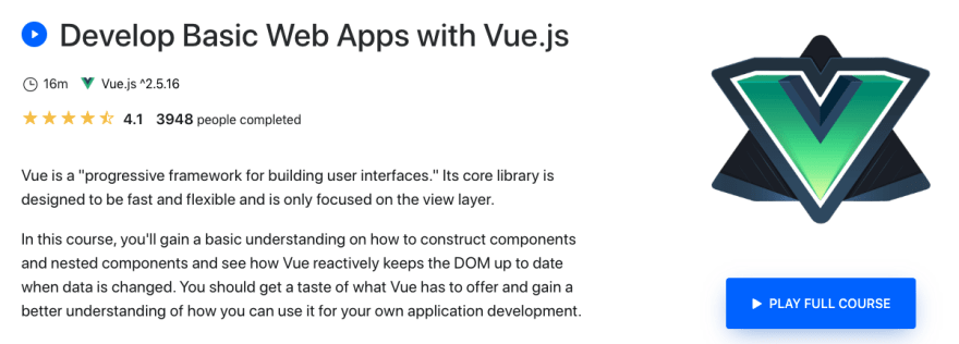 Develop Basic Web Apps with Vue.js on eggheadio