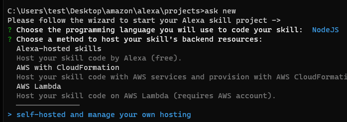 Ask new config