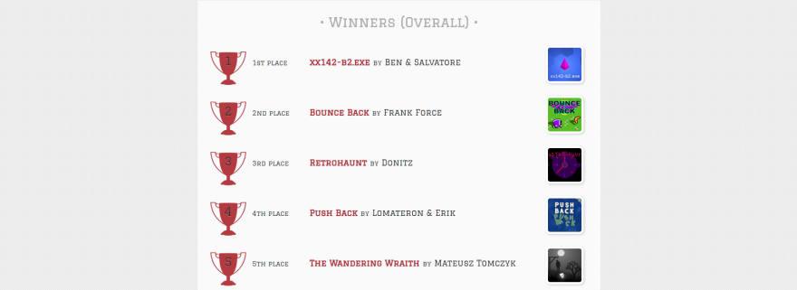 Js13kGames winners