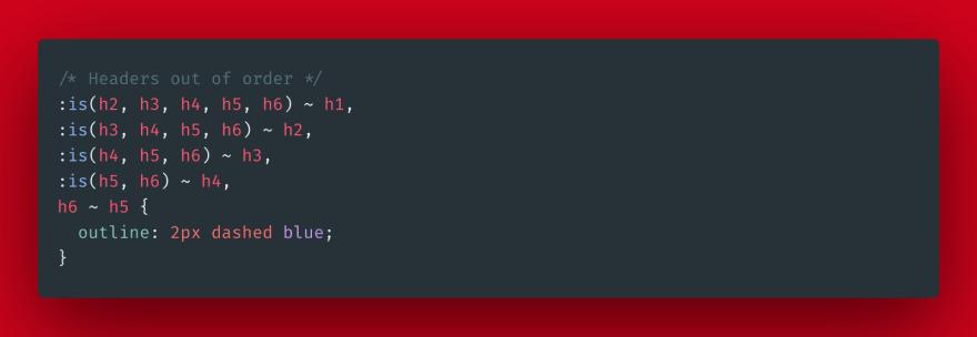 CSS order headers
