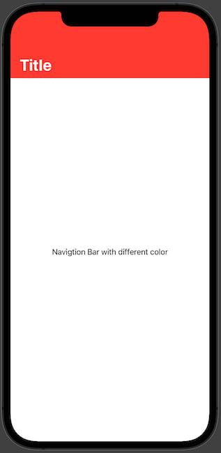 Navigation Bar with custom color