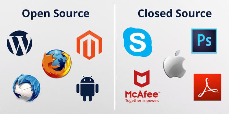 open source vs closed source