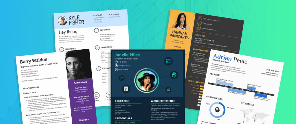 Cover image for Create a professional resume in a few minutes (for free).