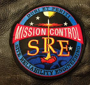 Google SRE patch that looks almost identical to the Mission Control patch