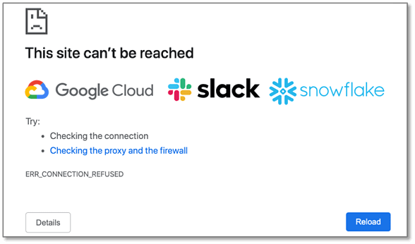 outages at gcp slack snowflake-1