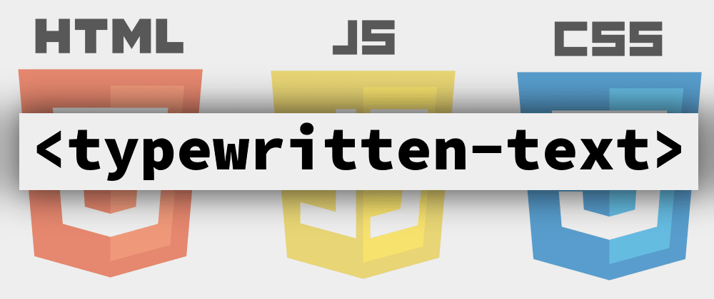 Cover Image for A Typewriter, but using a New HTML Tag