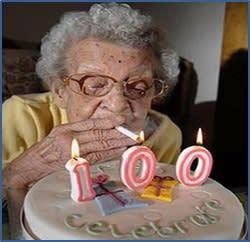 Fumadora de 100 años
