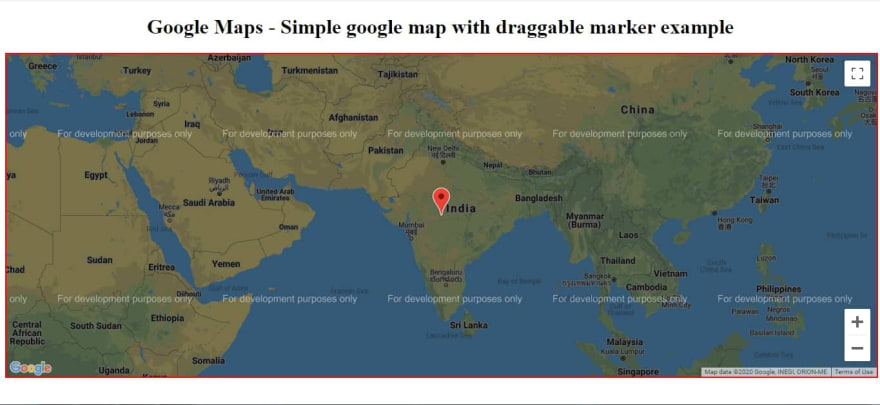 Google Map With Draggable Marker Example